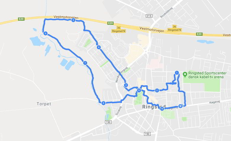 rute rundt i ringsted